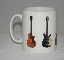 John Lennon Guitar Mug. 5 Famous guitars. Hofner, Rickenbacker & Epiphone