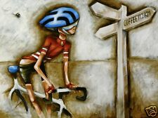 australia  CYCLING  ART PAINTING ANDY BAKER  600mm 2000s, Abstract
