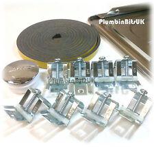 ACCIAIO Inossidabile Lavello Della Cucina Fissaggio PACK KIT con clip regolabile per tempo libero