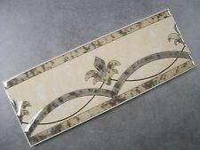 LARGE FLUER D'LYSE CERAMIC BORDER TILES 10cm x 30cm (SOLD PER PIECE)