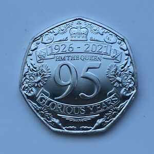 New !!! 2021 Gibraltar Queens 95th Birthday 50p 50 PENCE In-Hand
