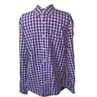 J.Crew Gingham Casual Shirt  Button Up Slim Fit Check Mens M