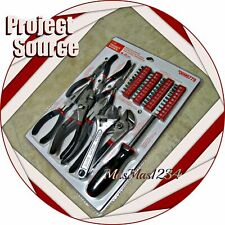 Project Source 49 Pc Pliers, Screwdrivers, Wrench, Bits - New - Fast Shipping