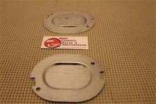 Chevy GM A-body Trunk Floor Pan Notched Drain Plug Plates Set of 2 New
