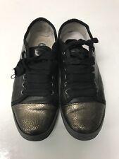 Lanvin Dark Brown Captoe Womens Sneakers Size US 8 Low Top Shoe
