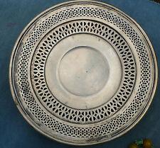 Vintage Sterling Silver Pierced Sandwich Tray Plate as-is SSMC
