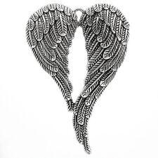 25 Charm Anhänger Antik Silber Engelsflügel für Halskette 6.9x4.7cm
