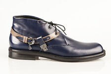 Authentic Fabi  Leather Italian Designer Shoes Blue  New  7,8,9,11