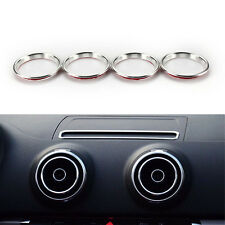 4pcs Silver A/C Outlet Ring Cover Trim Interior Air Condition Vent A3 S3 Audi
