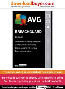 AVG BreachGuard 2021 - 1 PC - 2 Years [Activation Card]