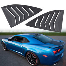 ABS Quarter Side Window Louvers Scoop Cover For 2010-2015 Chevy Chevrolet Camaro
