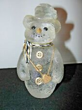 Sarah's Attic Limited Edition Figurine Clear Resin Snowman Chilly 1993