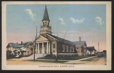 Postcard GIRARD Ohio/OH  Local Area Christian Church & Parsonage view 1920's