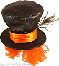 Da Uomo Donna Cappellaio Matto Alice nel paese delle meraviglie Costume Festa Costume Vestito Cappello