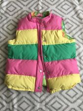 Lilly Pulitzer Girls Reversible Striped Floral Down Puffer Vest Size 16 j7
