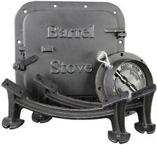 Barrel Stove Kit Complete Door Leg Steel Drum To Wood Heater Fireplace Converter