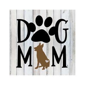 Dog Mom German Shepherd Pets Rustic Farmhouse Style White Wood B3-12120001061