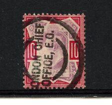 Great Britain #137a (Gr879) King Edward Vii, See P/M, 1 shilling,U,Fvf,Cv$85.00