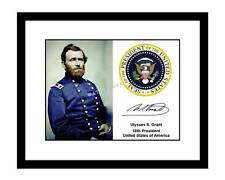 Ulysses S Grant 8x10 Signed Photo Print Presidential Seal Autographed President