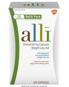 Alli weight loss aid capsules 60 mg 120 count Free Shipping
