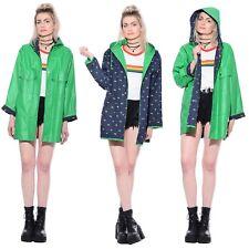 Vtg PVC Vinyl Reversible DUCKS Hooded Raincoat Jacket Rain Coat Regenmantel Mac