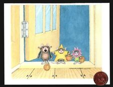 Halloween Card House Mouse Mice Costumes Door  Small Halloween Greeting Card NEW
