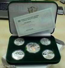 Set of 5 Ukrainian coins UEFA EURO 2012 in case Silver