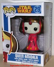 FUNKO POP STAR WARS QUEEN AMIDALA #29 BOBBLE HEAD RETIRED NOW MIMB In Stock