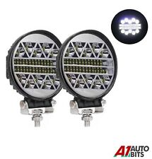 """2x 4.5"""" 108w Round Led 12-24v Work Combo Lights Lamps Off-Road Jeep Boat 4X4"""