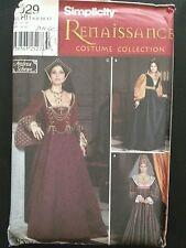 UNCUT Simplicity 9929 Historical Renaissance Sewing Pattern Costume Sz 6 8 10 12
