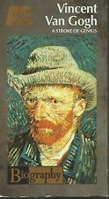 Vincent Van Gogh A Stroke of Genius Biography A & E  (VHS TAPE) FREE SHIPPING