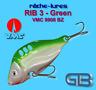 Cicaden, RIB 3 Green, Kunstköder original RIBCHE LURES, VMC 9908 BZ 8g - 20g
