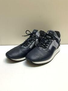 TOD'S Lace Ups - Nika Rubber Low-Cut Us8 Leather Navy Size 8 Sneaker From Japan