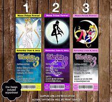 Sailor Moon - Anime - Birthday Ticket Invitation - 20 Printed W/envelopes