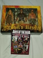"""Neca SIGNED DEVILS REJECTS """"SHOWDOWN"""" FIGURES SID HAIG BILL MOSLEY ROB ZOMBIE"""