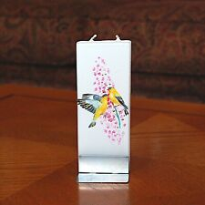 American Finches Flatyz Handmade Twin Wick Unscented Thin Flat Candle Dripless