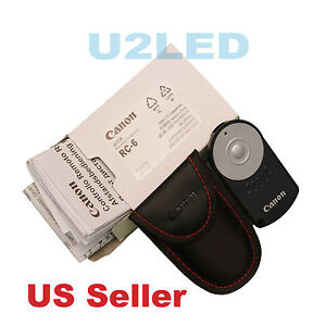 Canon RC-6 RC6 IR Wireless Remote Control EOS M5 5D Mark IV 70D 5DS R Rebel T6i
