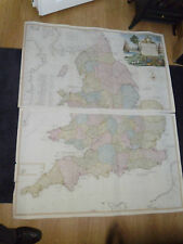 100% ORIGINAL LARGE MAP GREAT BRITAIN  BY  T KITCHIN C1794 VGC SCARCE