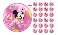 Eßbarer Tortenaufleger Minnie Maus 2 DVD Deko Muffinaufleger Tortenbild Party CD