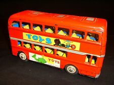 Double Decker Tin Litho Friction Bus - Made in China