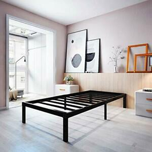 14 Inch Metal Platform Bed Frame/Sturdy Strong Steel Structure 3500 Twin XL