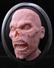 2 IN 1 Set of 2 Walking Dead Zombie Cameo Brooch Pins / Pendant