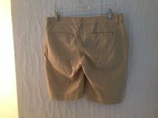 OLD NAVY beige casual shorts tag size 8 actual W33 L10.5 rise 8.5