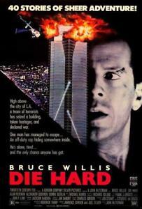Die Hard Movie POSTER 27 x 40 Bruce Willis, Bonnie Bedelia, B