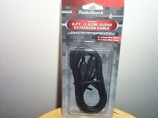 RadioShack 6-FT. 3.5MM AUDIO EXTENSION CABLE 42-2472