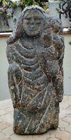 Vierge à l'enfant en granit 13/14ème siècle ? 39/40 cm ( bretagne ?)