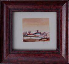 Moderne Naive  Kunst, signiert Yana , Landschaft, Aquarell  x 56-780 x