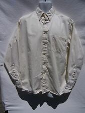 Windsor Shirt Men's Long Sleeve Button Down Ivory Dress Shirt Size 16 34/35
