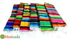 MEXIKANISCHE SARAPE DECKE AZTEKTEN HANDARBEIT - Picknick Sofa Bettdecke HOT ROD