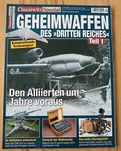 """Clausewitz Spezial  """"Geheimwaffen des Dritten Reiches Teil:1"""" Nr: 25"""